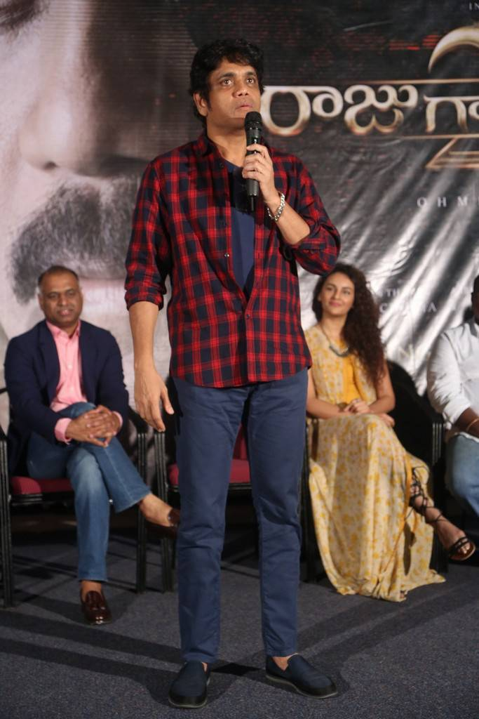 Nagarjuna At Raju Gari Gadhi 2 Movie Trailer Launch Event Gallery