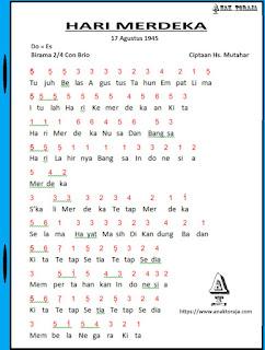 Partitur Lagu Hari Merdeka - Husein Mutahar