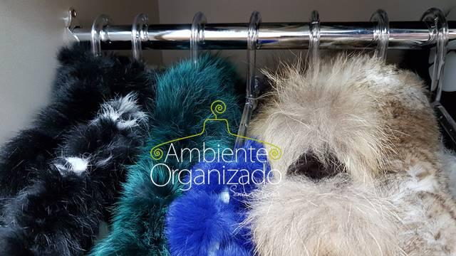 Organização de casacos de pele