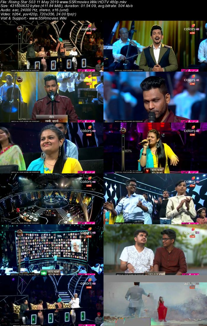 Rising Star S03 11 May 2019 HDTV 480p Full Show Download