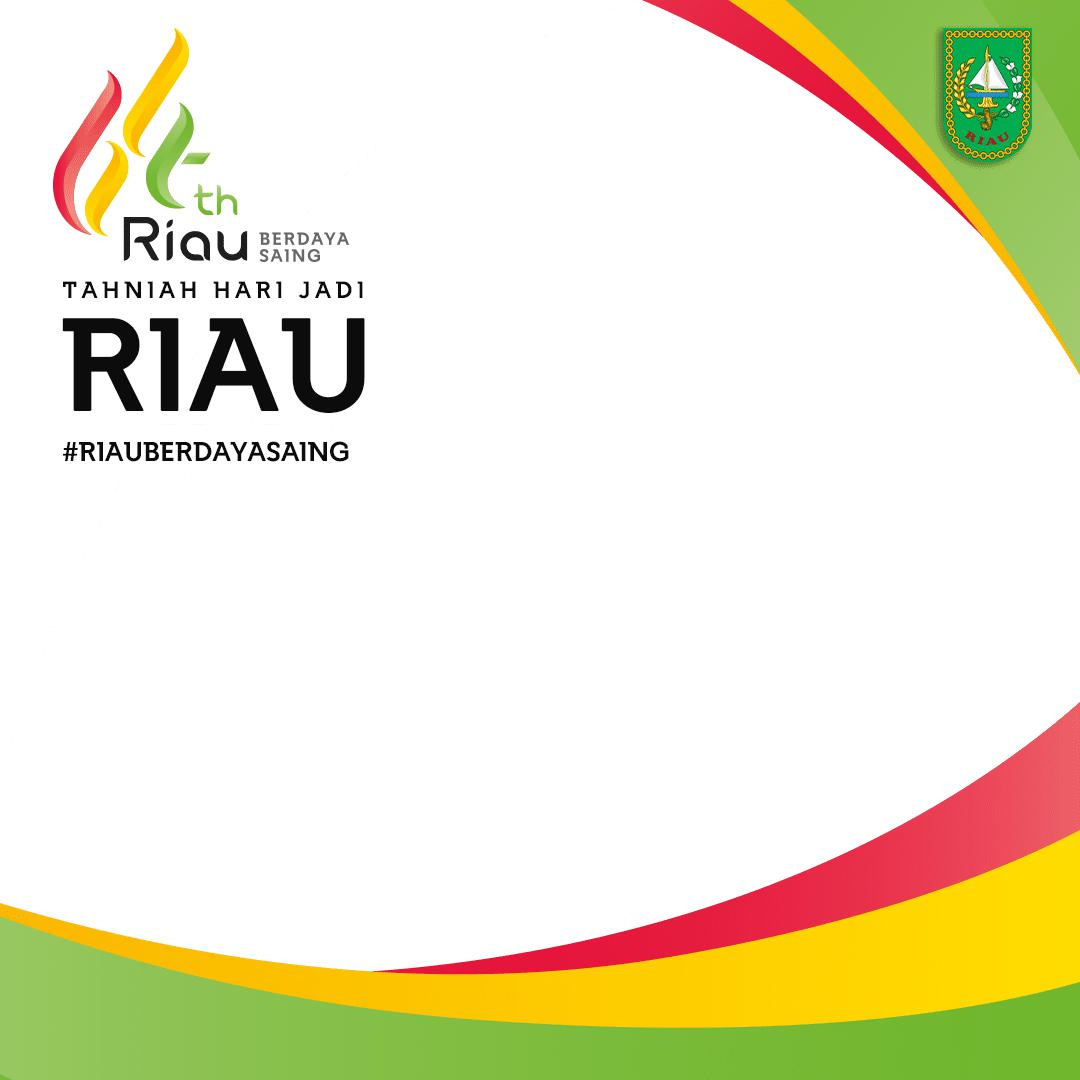 Template Frame Bingkai Twibbon Ulang Tahun ke-64 Provinsi Riau 2021