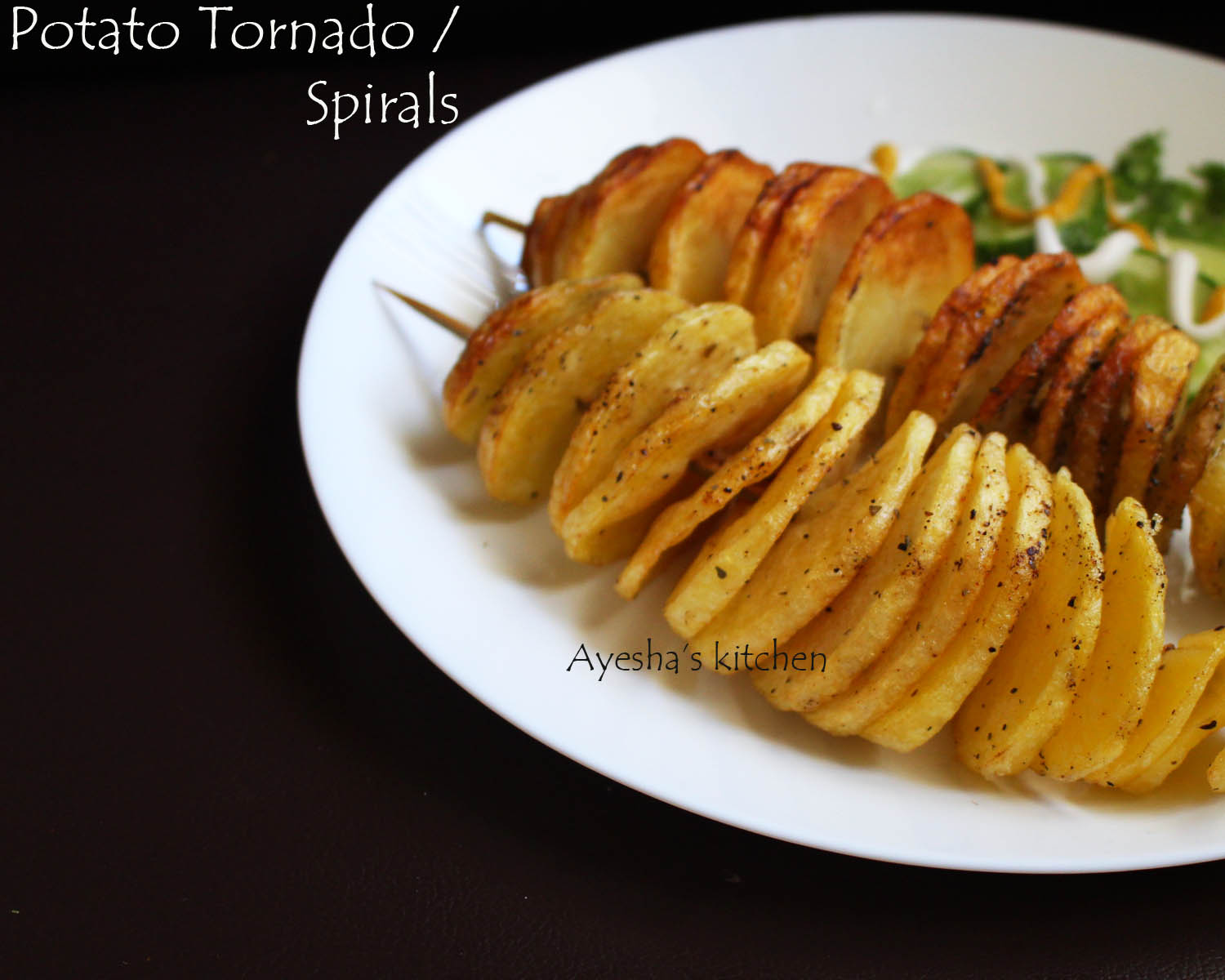 potato spirals recipe how to make tornado fries at home