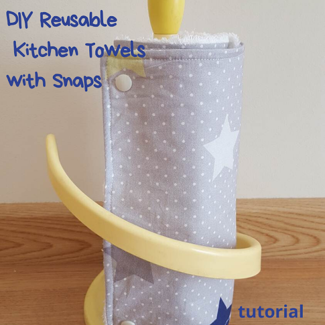 Reusable Kitchen Towels with Snaps - tutorial