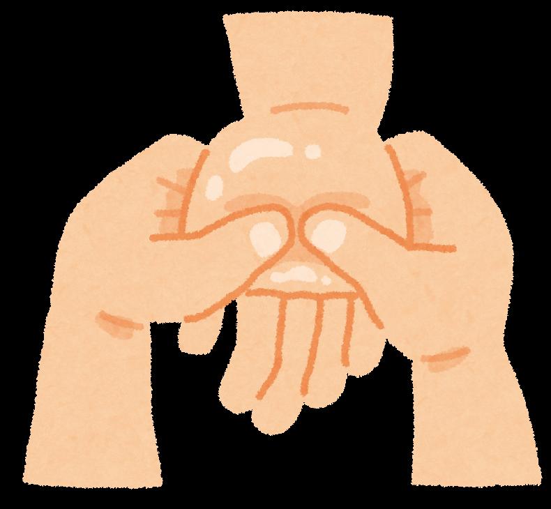 図:触覚刺激で手のリハビリ