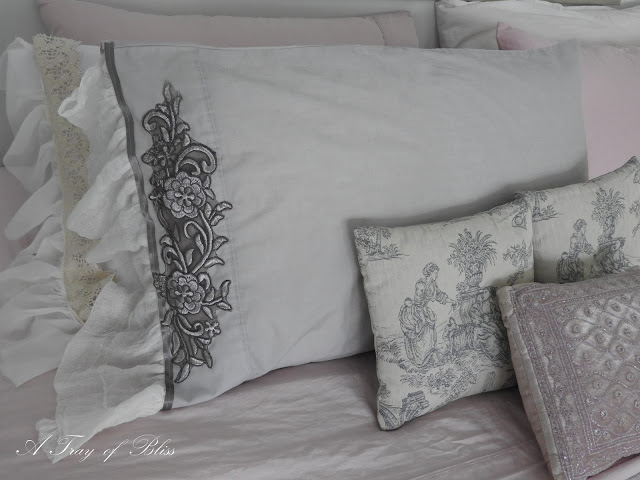 shabby romantic pillow cases by Mimi of A Tray Of Bliss