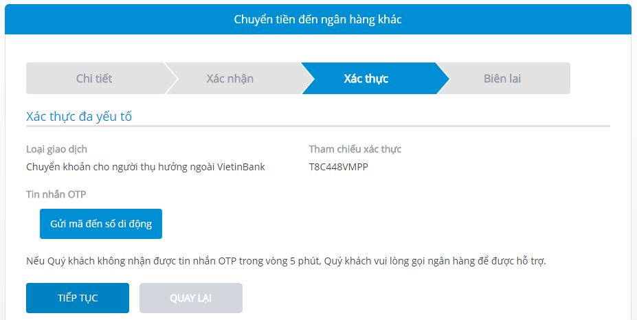 [VietinBank] chuyển khoản ngoài hệ thống với VietinBank Ipay