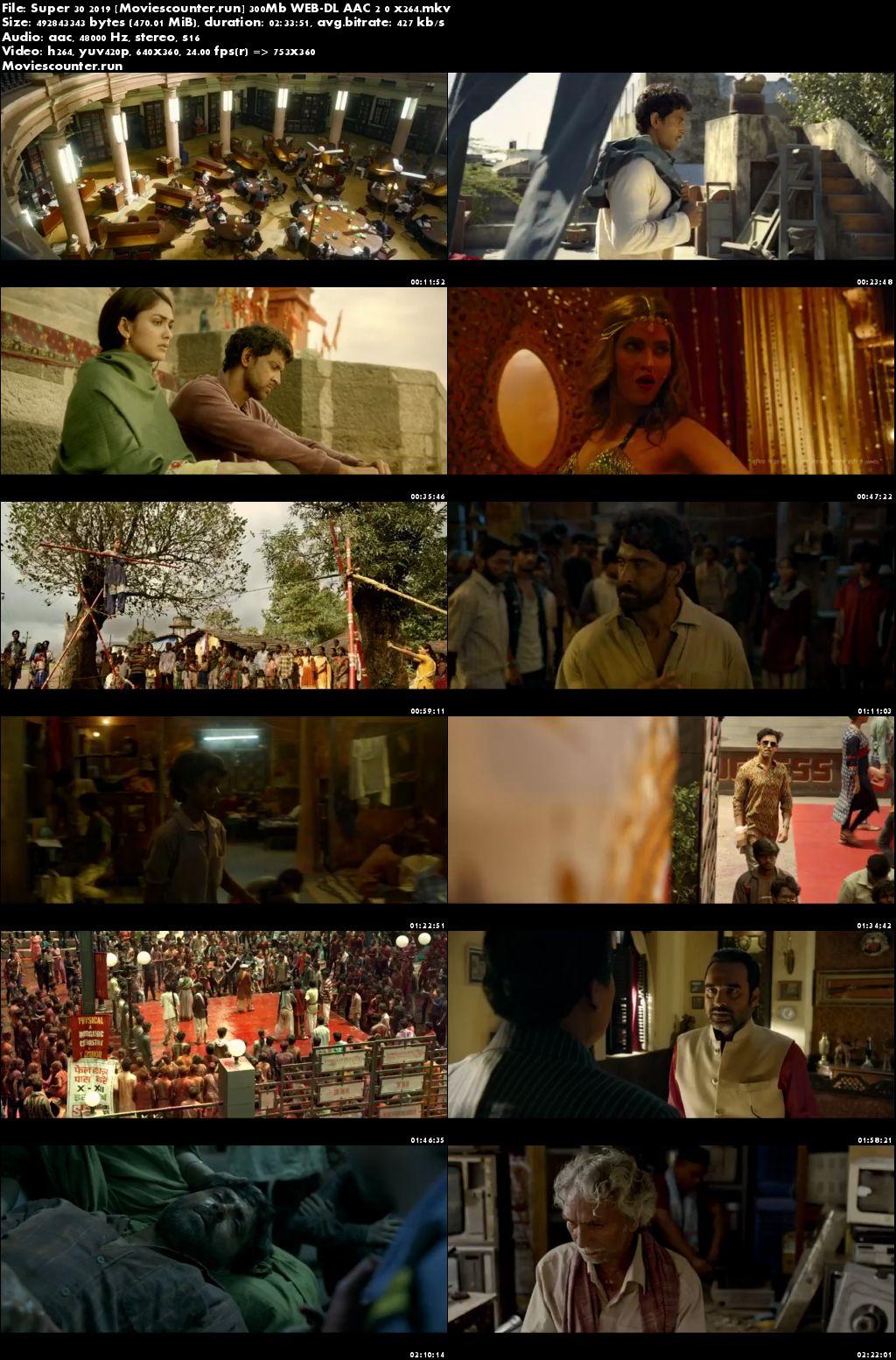Screen Shots Super 30 2019 Hindi HD 300MB