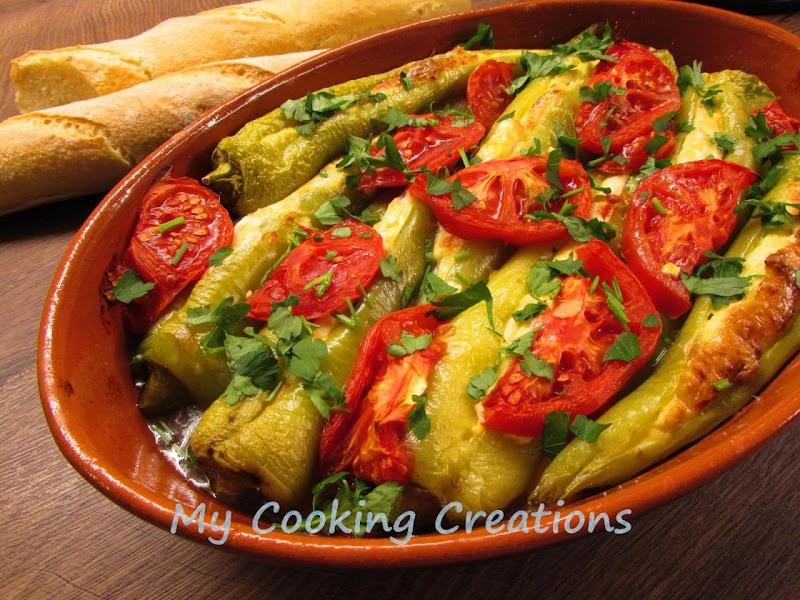Чушки с яйца и сирене на фурна * Peperoni imbottiti con uova e formaggio