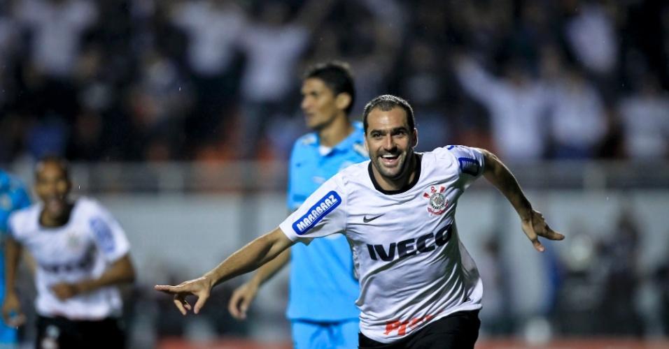 Danilo marca o gol que colocou o Corinthians pela primeira vez na final da  Copa Libertadores d064ad98d8e74