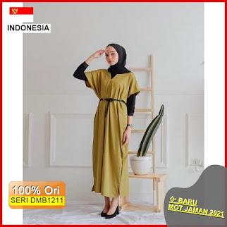 Dmb1211 Dress Wanita Daisha Dress Vee Dress Free Belt Gamis Muslim Dress Muslim Modern Terbaru