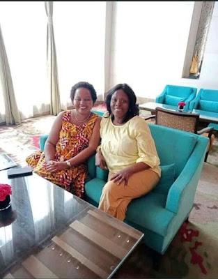 Photos of Pauline Kamau with Anne Waiguru in both NYS and Kirinyaga county sagas