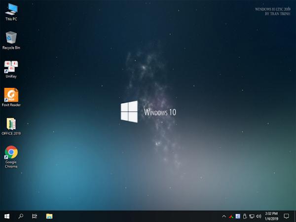 GHOST Windows 10 Enterprise LTSC 2019 Build 17763.195 + Office 2019 Auto Active