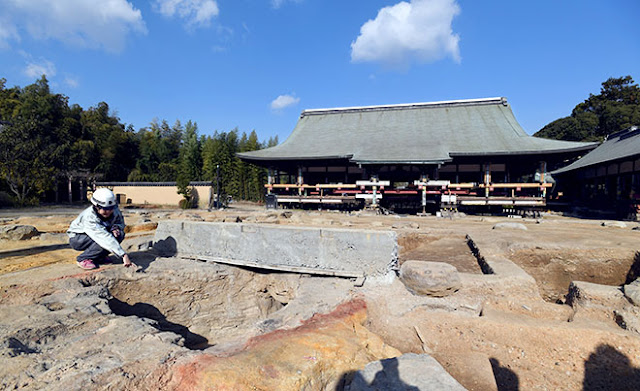Researchers fired up after finding kiln for ancient Japanese temple