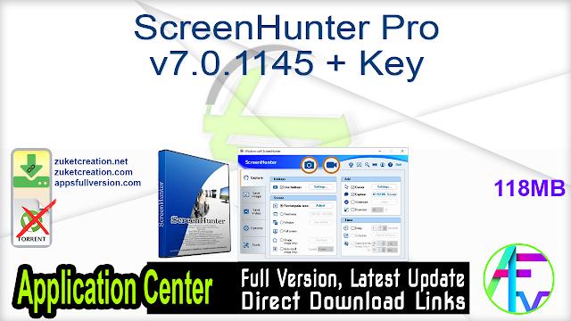 ScreenHunter Pro v7.0.1145 + Key