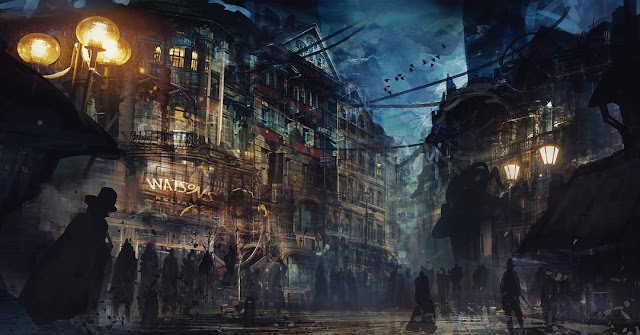 london city concept art mortal engines