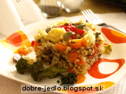 Zeleninový bulgur so šampiňónmi - recept