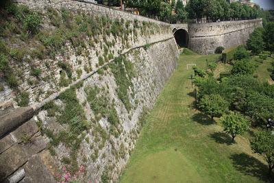 City wall of Bergamo