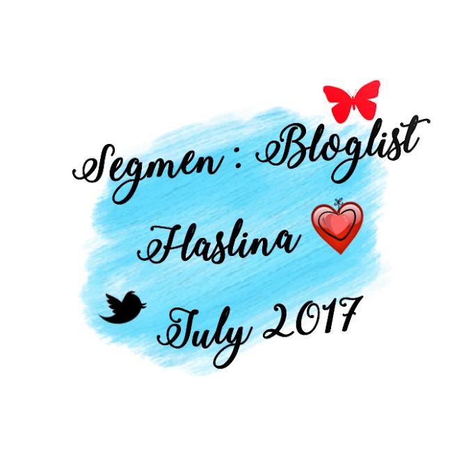 Segmen: Bloglist Haslina : July 2017