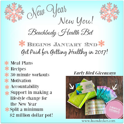 New Year Health and Fitness Group, New Year New You Challenge Group, New Year's Resolutions, Weight Loss, Healthy Recipes, Meal Planning, 21 Day Fix Recipes, Beachbody Health Bet, Health Bet, Lisa Decker,