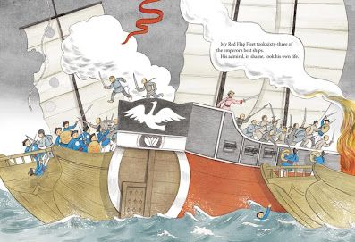 From Pirate Queen: A Story of Zheng Yi Sao by Helaine Becker, illus. by Liz Wong