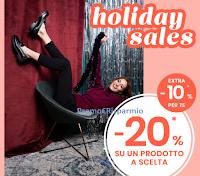 """Pittarello """"Holiday Sales"""" : 20% di sconto su un prodotto a tua scelta e ulteriore sconto del 10% ! Come accedere alla promozione"""