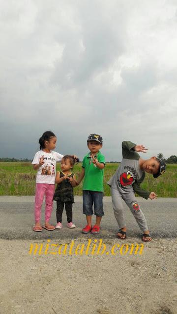 Kenangan yang Paling Indah , zaman kanak-kanak, balik kampung beza budak dahalu dengan budak sekarang, pemandangan sawah padi, musim menuai, kanak-kanak