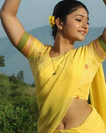 Poonam Bajwa Sexy Navel Show in Yellow Saree