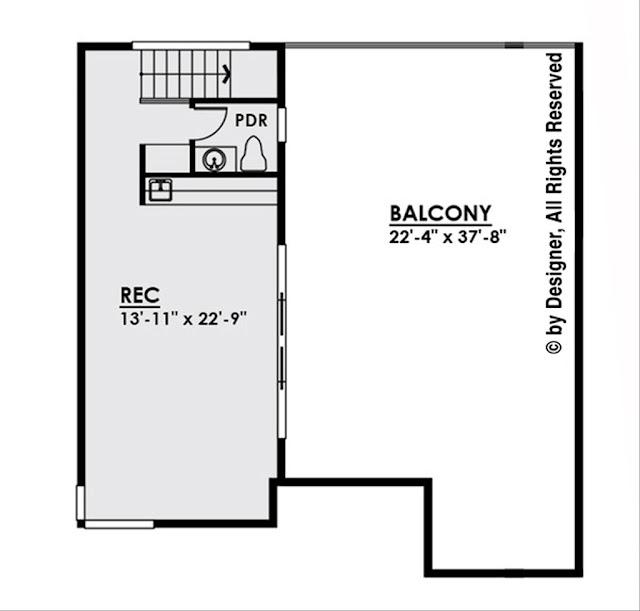 แปลนบ้าน 4 ห้องนอนชั้น 3