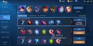 Emblem and build Lylia Hurt Mobile Legends