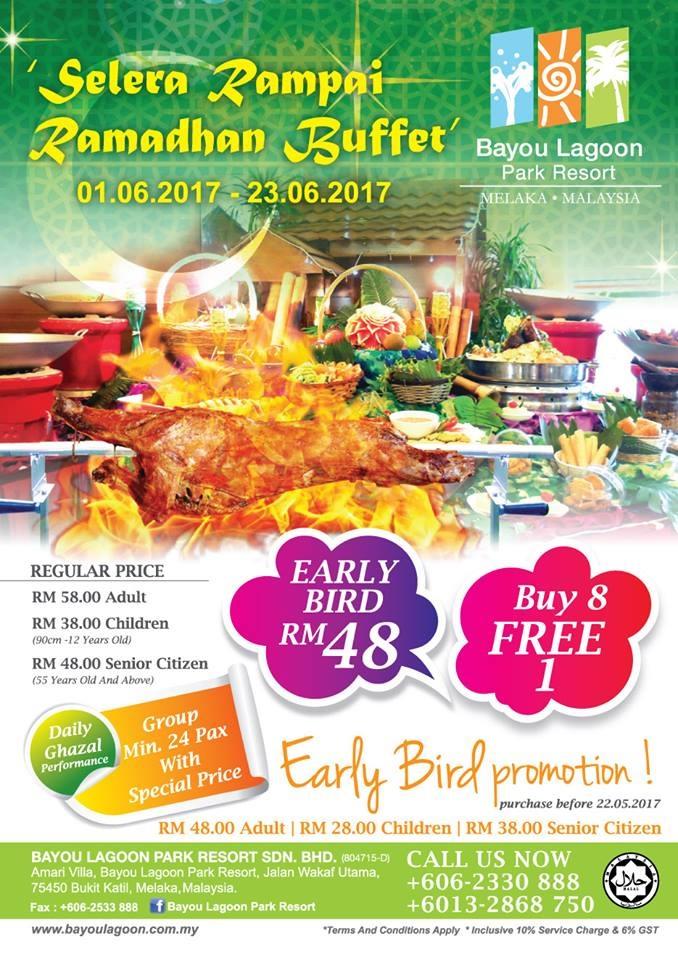 buffet ramadhan di bayou lagoon park resort melaka