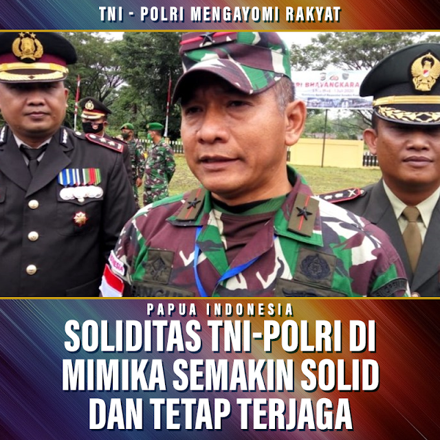 Soliditas TNI-Polri di Mimika Harus Terus Terjaga