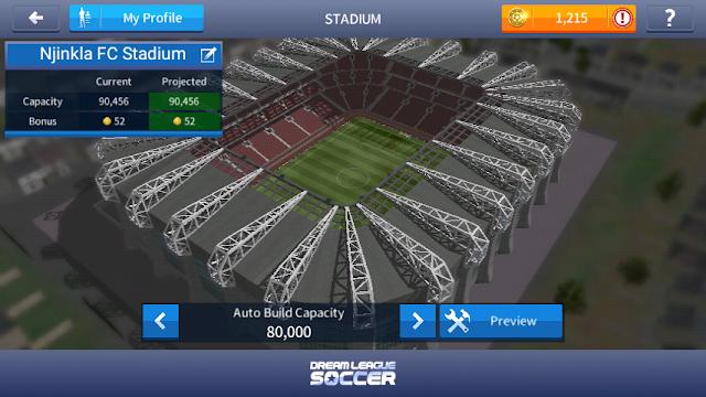 Cara mengupgrade kapasitas stadion dls.