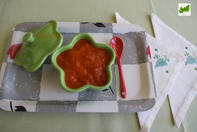 Salsa De Tomates Con Mermelada Y Pimientos Rojos