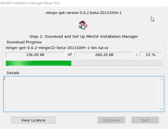 mingw setup - Downlaod and setup MinGW Installation Manager