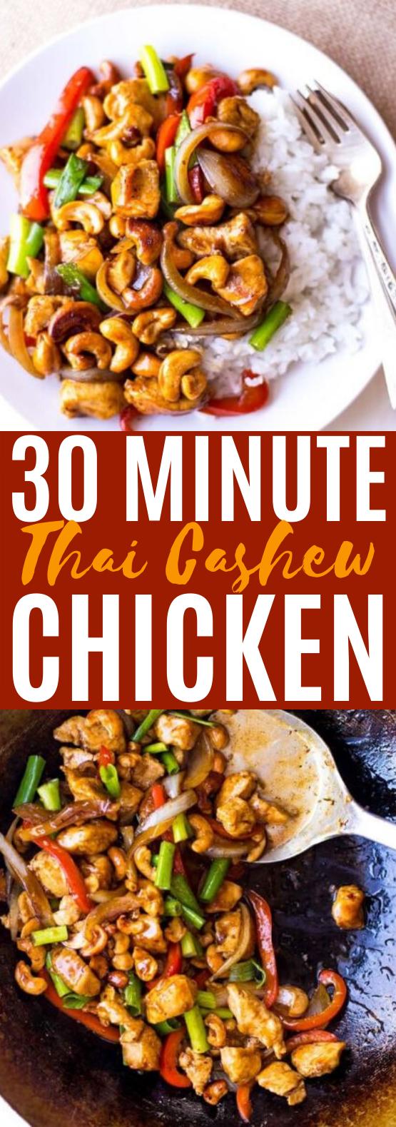 Thai Cashew Chicken #dinner #chicken #stirfry #easy #healthy