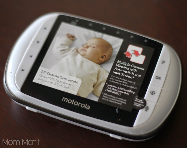 Motorola MBP36S video baby monitor #MotorolaBabyMonitor #CleverGirls parent unit
