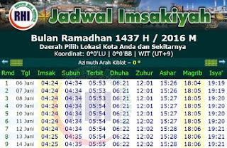 Jadwal Imsakiyah dan Waktu Shalat Selama Ramadhan Lengkap Seluruh Provinsi di Indonesia