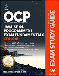 Top 5 Books to Crack Oracle's Java SE 11 Certificaiton (OCAJP 11 1Z0-815 and OCPJP 11 1Z0-816, 1Z0-817)