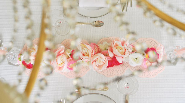 pink blossoms create the most beautiful centerpiece