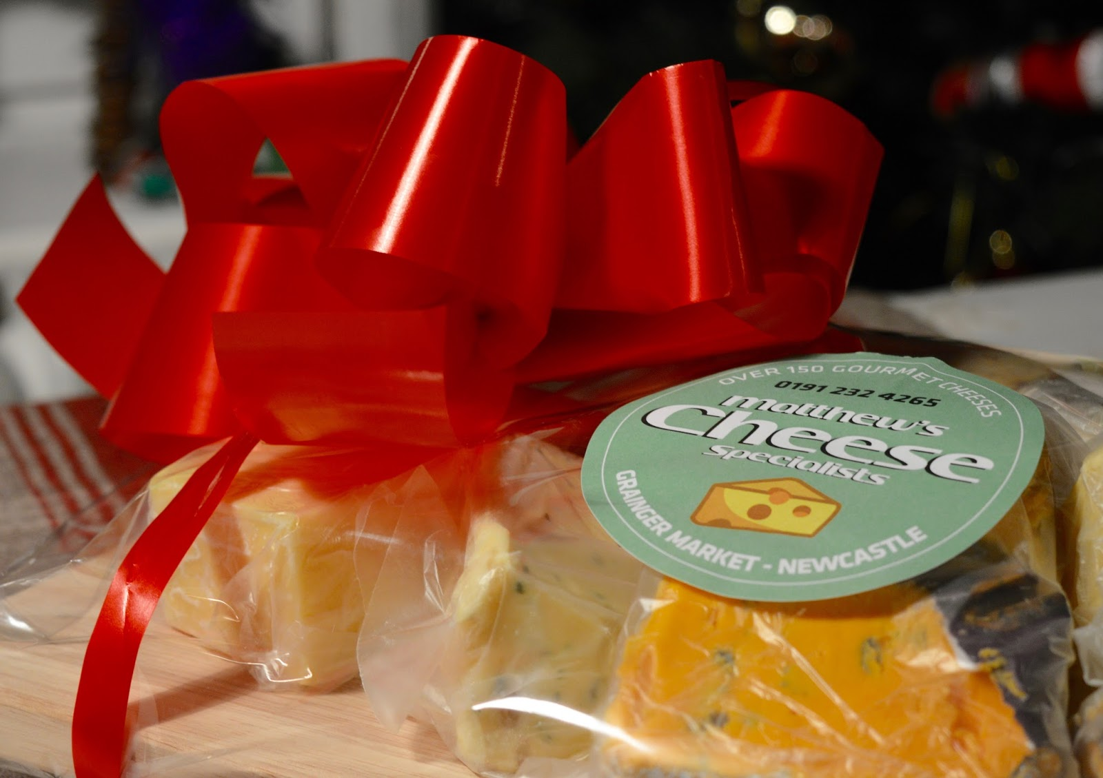 Creating a perfect Cheese Board with Matthew's Cheese Shop | The Grainger Market, Newcastle - wrapped cheese board gift