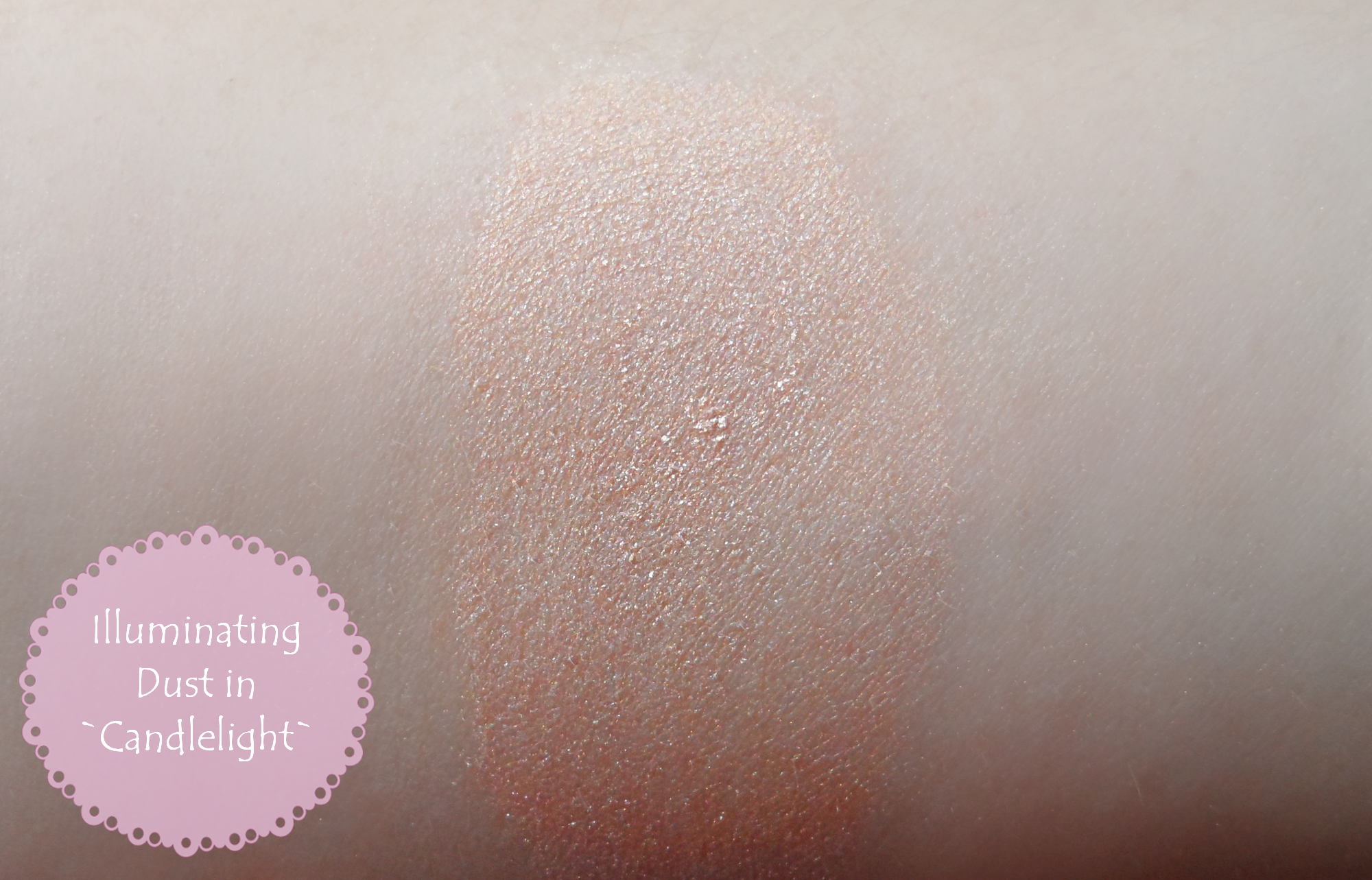 Buff`d Mineral Cosmetics illuminating dust highlighter Review Swatches pictures samples