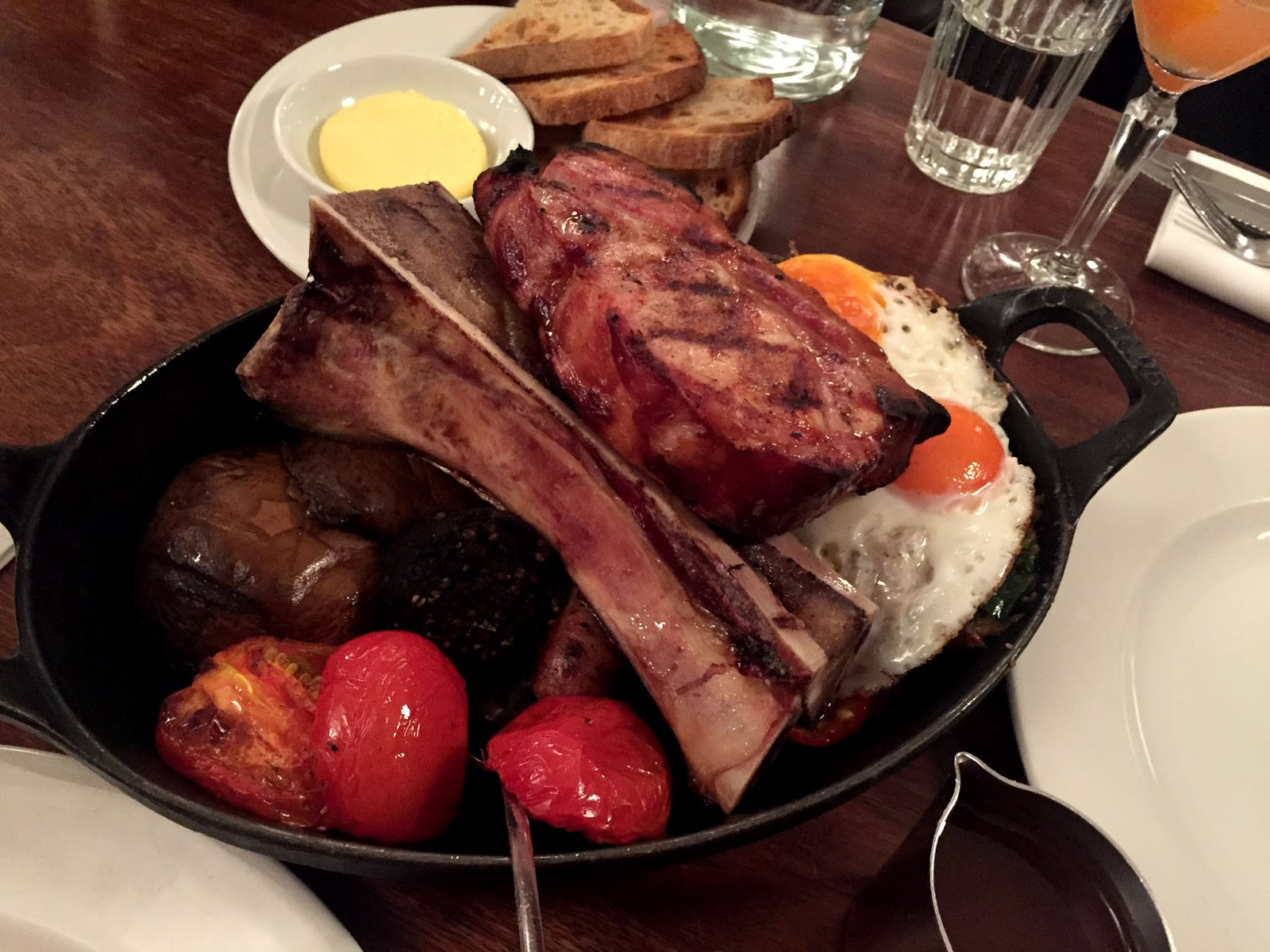Full english breakfast on plate