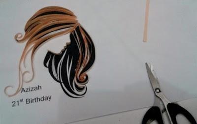 membuat lukisan orang dengan quilling paper