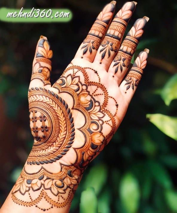 Front Hand Festival Mehndi Designs