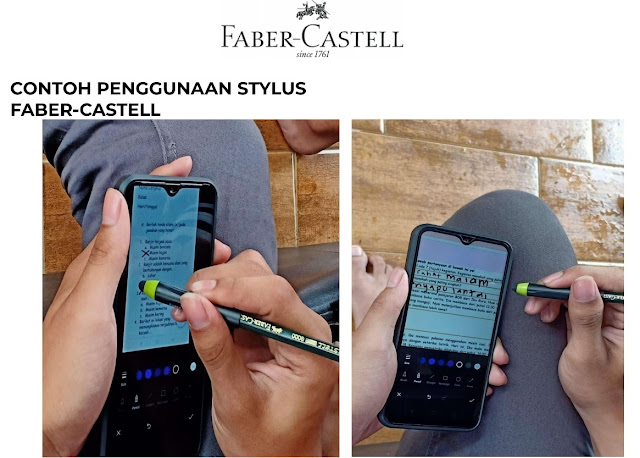Contoh pengunaan Stylus Faber-Castell
