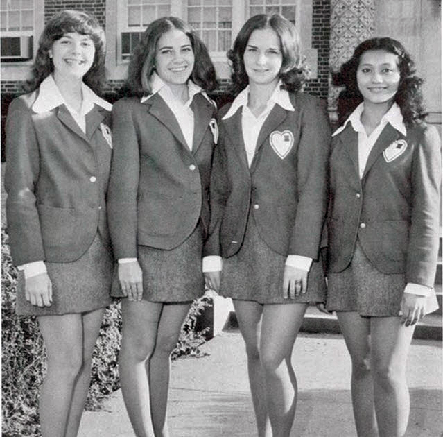 Vintage Photos Of School Girls In Uniform Miniskirt