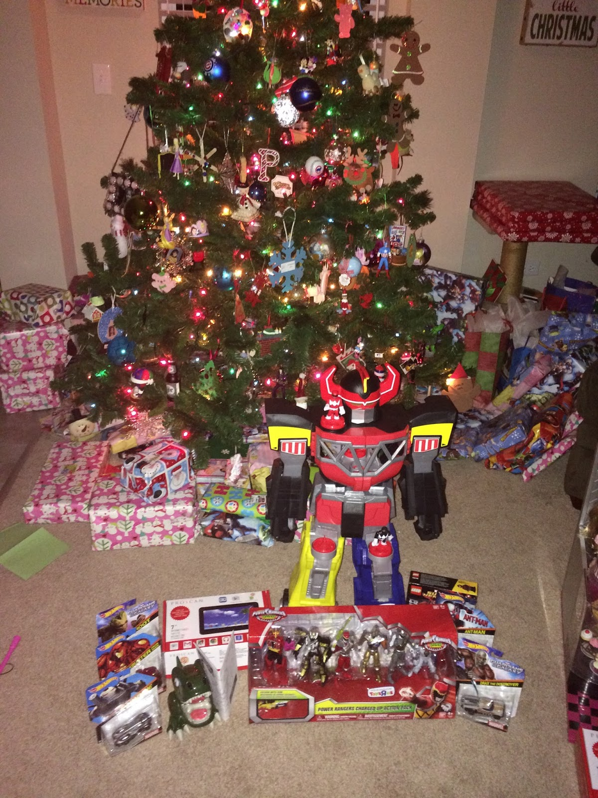 Power Rangers Christmas Tree.Gracie Girl Company Twas The Night Before Christmas