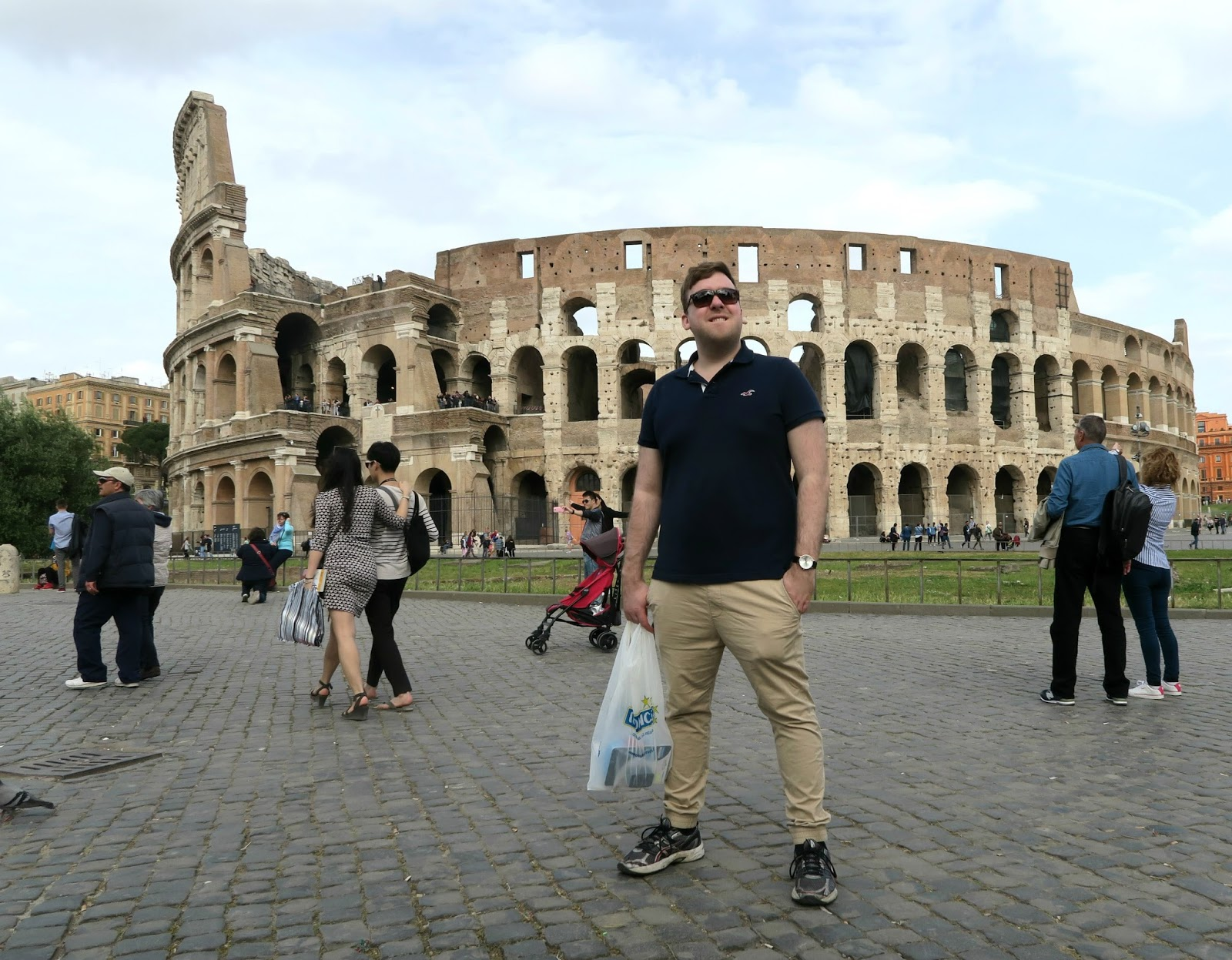 Outside the colloseum