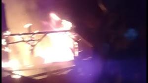 Pabrik Tahu Hangus Terbakar Api di desa Batu nunggal Sukabumi