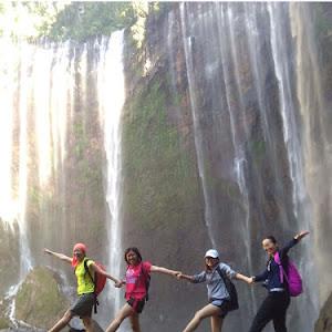 Tumpak Sewu Waterfall around Lumajang